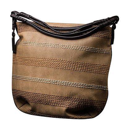 Dámská béžová kabelka s dekorativním prošíváním Sisley