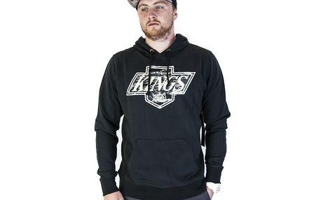 Mikina s kapucí 47 Brand Sure Shot Till Dawn Camo Los Angeles Kings Hoody Jet Black černá / žlutá L