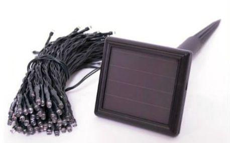 Vánoční LED světýlka venkovní se solárním panelem