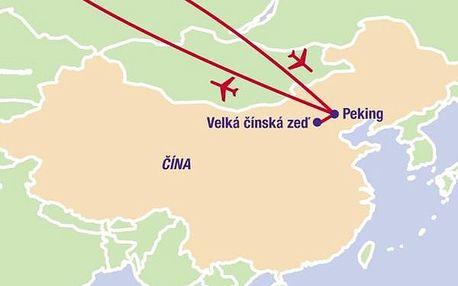 Malý okruh Čínou, Asie, Čína, letecky, strava dle programu