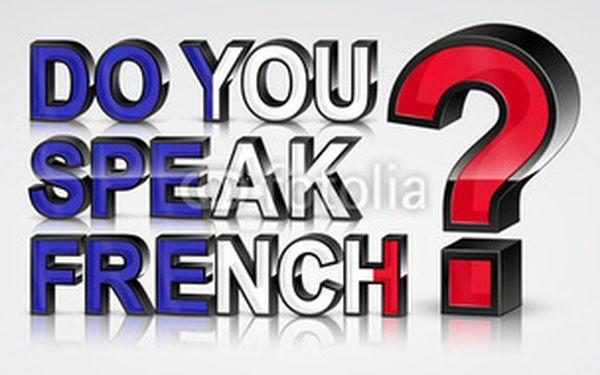 8 lekcí francouzštiny - komunikace a konverzace pro mírně pokročilé A2/B1 s rodilým mluvčím - pondělí 17:30-19:00