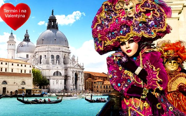 Romantické Benátky v době proslulého karnevalu. Jedeme i na Valentýna!