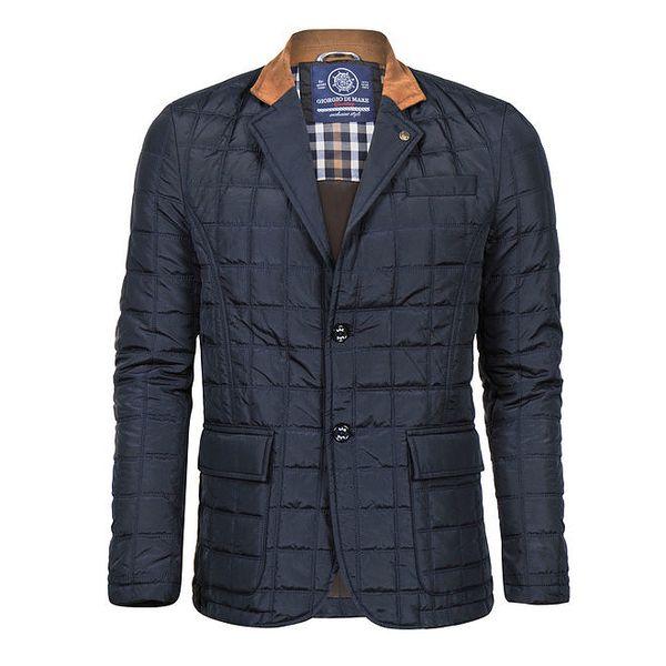 Pánský tmavě modrý krátký kabát Giorgio Di Mare