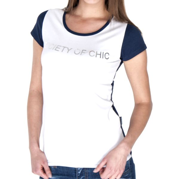 Dámské modro-bílé tričko s nápisem Giorgio di Mare