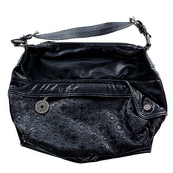 Dámská černá kabelka Levi's s vtlačenými kroužky