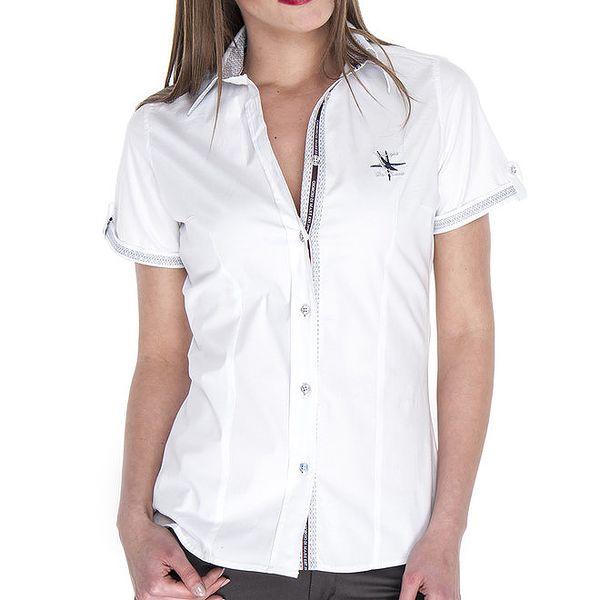 Dámská bílá košile s krátkým rukávem Giorgio di Mare