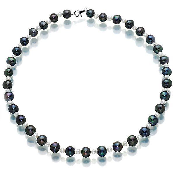 Dámský černo-bílý náhrdelník Orchira