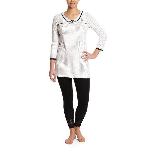 Dámské krémovo-černé pyžamo Vive Maria