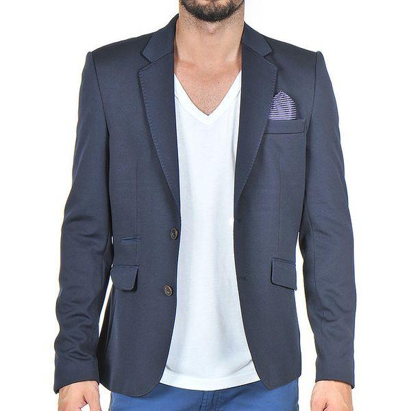 Pánské tmavě modré sako s kapesníčkem Giorgio Di Mare