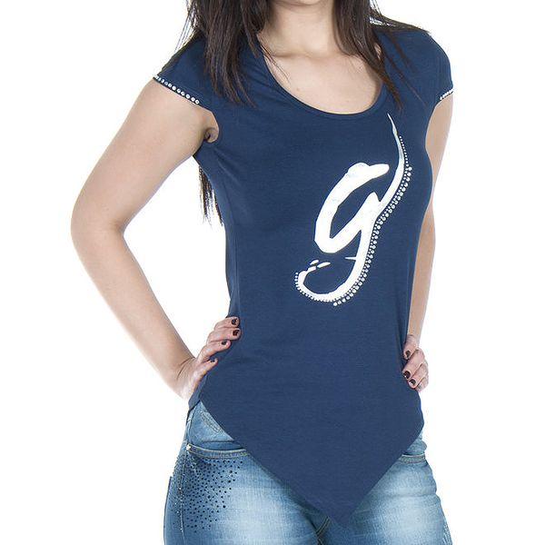 Dámské modré tričko s cípem Giorgio di Mare