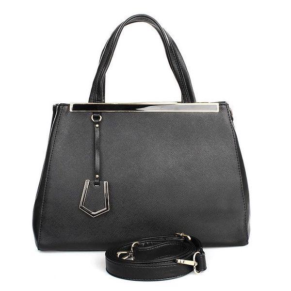 Dámská černá kabelka s vnější kapsičkou London fashion