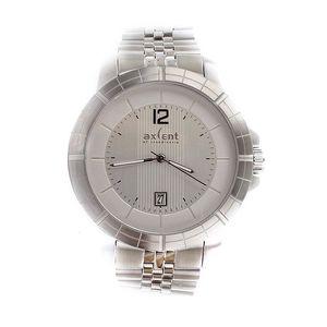 Pánské hodinky s datumovkou Axcent - stříbrná barva