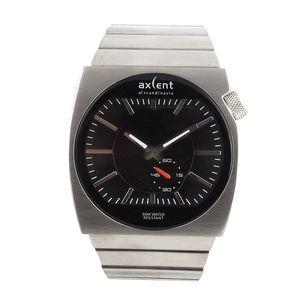 Pánské hodinky z nerezové oceli s černým ciferníkem Axcent