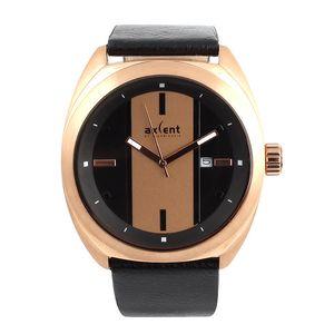 Pánské hodinky s koženým řemínkem Axcent