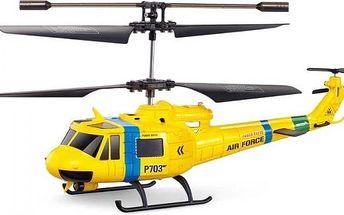 Tříkanálový vrtulník Fleg RESCUE Huey GYRO s figurkami