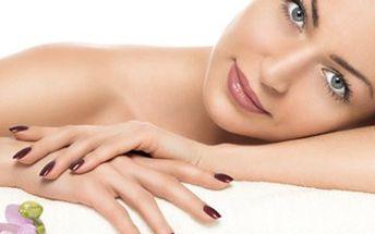 Kompletní manikúra SPA broskvové dlaně s potažením nehtů UV gelem nebo japonská manikúra P-shine.