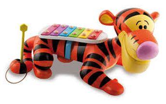 Xylofon a tahací hračka tygřík IMC 160552