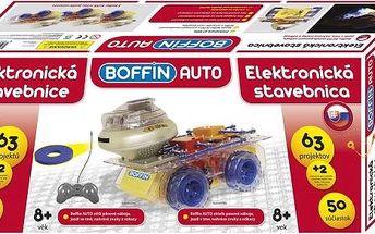Elektronická stavebnice Boffin auto s 50 kusy