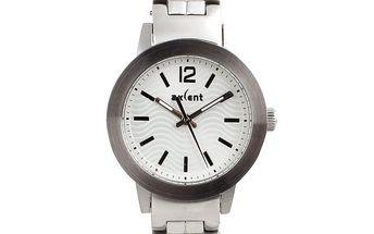 Dámské ocelové hodinky ve stříbrné barvě Axcent