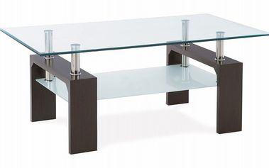 Konferenční stůl AUTRONIC Simona (ořech/sklo)