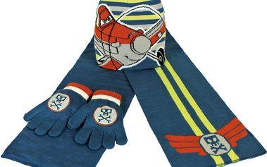 Chlapecký zimní set Letadla - rukavice, šála, čepice