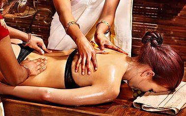 Luxusní čtyřruční HOT STONES masáž celého těla pro...
