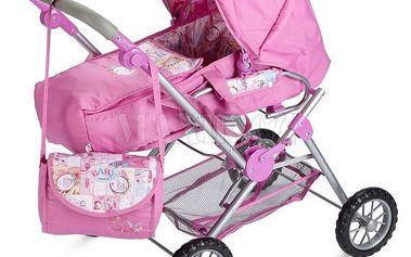 Kombinovaný kočárek 3v1 pro Baby Born panenku