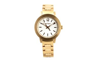 Dámské hodinky s bílým ciferníkem Axcent - zlatá barva