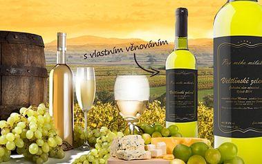 Archivní Víno 2004 s vlastní etiketou! Víno z jižní Moravy potěší všechny opravdové milovníky vína!