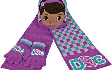 Dívčí zimní set Dr. Plyšáková - rukavice, šála, čepice