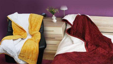 Prošívaná deka micro Beránek! 6 barevných provedení! Extra měkká a velmi hřejivá deka na zimní večery!