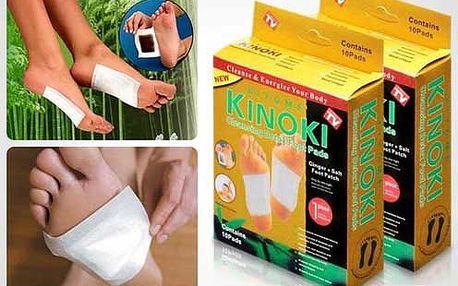 Ideální očista pro Vaše nohy a celé tělo ! Detoxikační náplasti Kinoki. Poštovné je v ceně!
