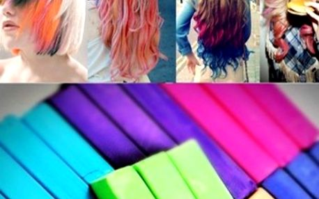 Křídy na obarvení vlasů - 12ks