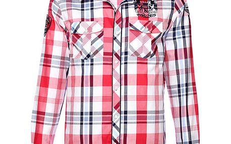 Pánská červeně kostkovaná košile M. Conte