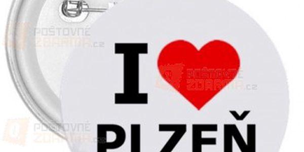 Placka I love Plzeň a poštovné ZDARMA! - 9999911598