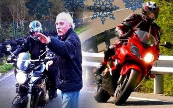 Kurz BEZPEČNÉ JÍZDY pro začínající i pokročilé motorkáře. Super dárek - platí do července.