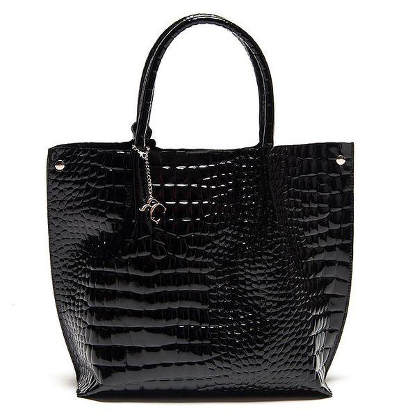 Dámská černá lakovaná kabelka Renata Corsi