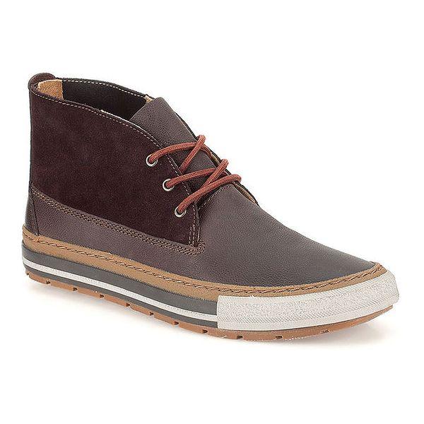 Pánské tmavě hnědé boty s tkaničkami Clarks