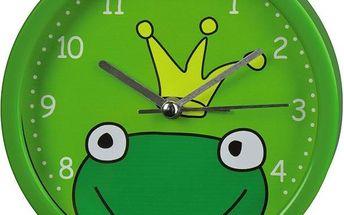 Dětský budík Žaba , tichý chod bez hlasitého tikání