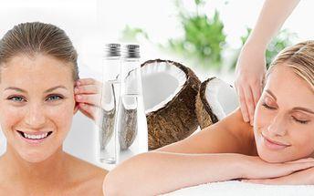 Regenerační a relaxační masáž zad, šíje, hlavy a obličeje bio kokosovým olejem! Okuste jeho blahodárné účinky!