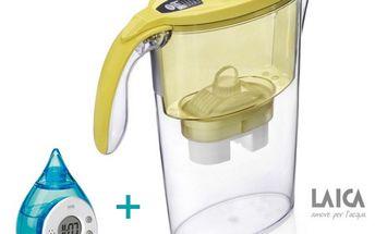 Filtrační konvice Stream line, Laica + filtr Bi flux, žlutá