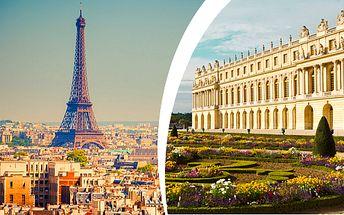 Romantická Paříž a Versailles s dopravou a ubytováním se snídaní
