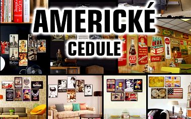 AMERICKÉ CEDULE!! Úžasná dekorace na zeď!! Kovové provedení!! 14 vzorů!!
