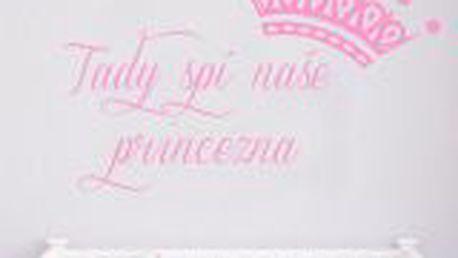 HouseDecor - dekorativní samolepka na zeď - Naše princezna