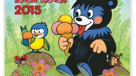 Medvídek Baribal, poznámkový kalendář 2015, 30 x 30 cm