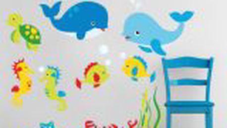 Hravá dekorativní samolepka Marine animals