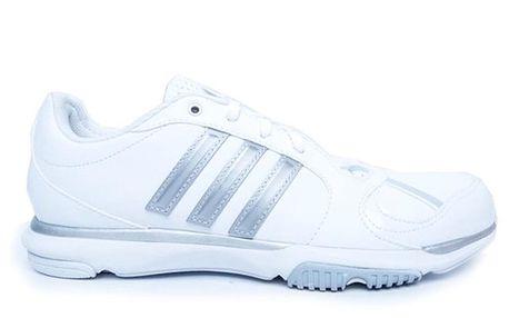 Dámské bílé tenisky se stříbrnými detaily Adidas