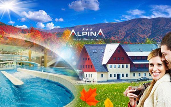 Romantický podzimní pobyt v hotelu ALPINA*** ve Špindlu! TŘI nebo ŠEST dní s POLOPENZÍ, SAUNOU a také WHIRLPOOLEM již od 2299 Kč PRO DVA! 2× lístek na Špindlerovku při pobytu na 6 dní, fotbálek, FITNESS, billiard a balíček slev!