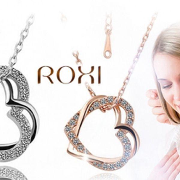 Náhrdelník osázený čirými zirkony ve tvaru srdce! Udělejte vé polovičce radost romantickým dárkem!