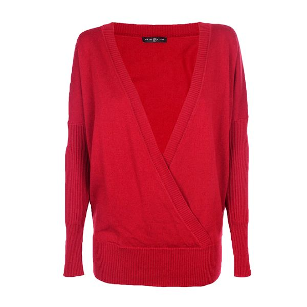 Dámský červený volný svetr Pietro Filipi